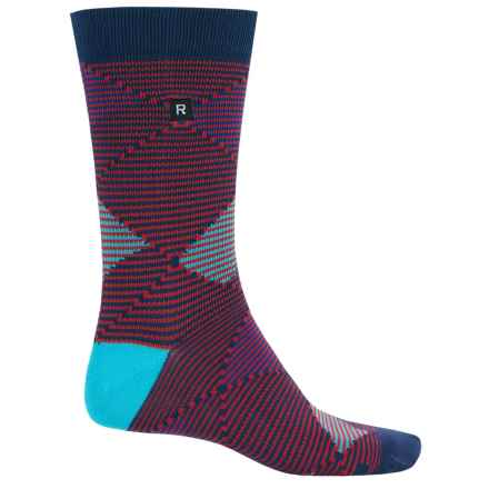 Richer Poorer Optic Argyle Socks - Crew (For Men) in Red - Closeouts