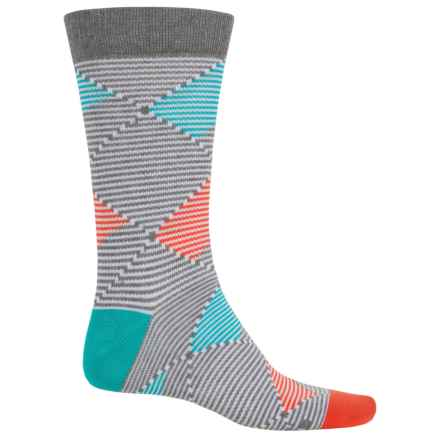Richer Poorer Optic Argyle Socks - Crew (For Men) in White - Closeouts