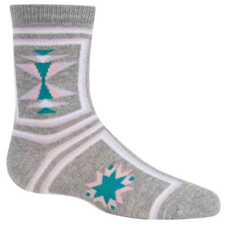 Richer Poorer Shelly Socks - Crew (For Little and Big Girls) in Heather Grey - Closeouts