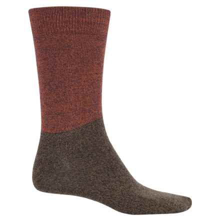 Richer Poorer Troubador Socks - Crew (For Men) in Sienna Olive - Closeouts