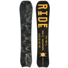 Ride Snowboards Alter Ego SplitTail Snowboard (For Men) in 159 Black/Yellow - Closeouts