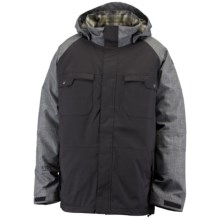 Ride Snowboards Ballard Jacket - Flannel Lined, Insulated (For Men) in Black Herringbone - Closeouts