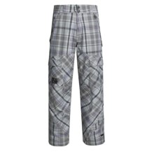 Ride Snowboards Belltown Shell Pants - Waterproof (For Men) in Rip Stop Plaid - Closeouts