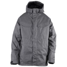 Ride Snowboards Delridge Shell Snowboard Jacket - Waterproof (For Men) in Black Concrete Melange - Closeouts