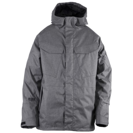 Ride Snowboards Delridge Shell Snowboard Jacket - Waterproof (For Men) in Black Concrete Melange