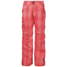 Ride Snowboards Fairmont Shell Pants - Waterproof (For Women) in Coral Blurred Plaid - Closeouts