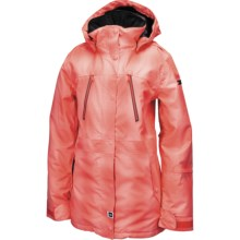 Ride Snowboards Genesee Jacket - Waterproof, Insulated (For Women) in Coral Blurred Plaid - Closeouts