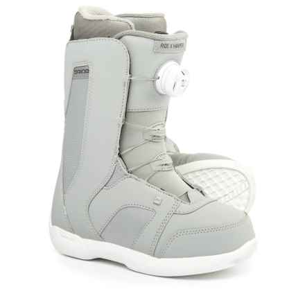 "Ride Snowboards Harper Snowboard Boots - 10"" (For Women) in Grey - Closeouts"