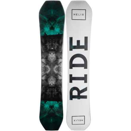 Ride Snowboards Helix Snowboard (For Men) in Stormy W/Snow/Stormy Logo - Closeouts