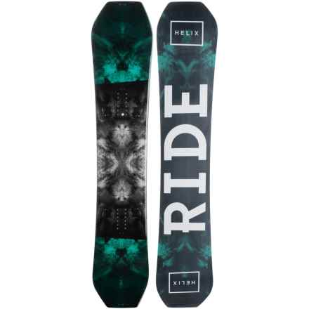 Ride Snowboards Helix Snowboard (For Men) in Stormy W/Stormy/Snow Logo - Closeouts