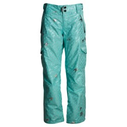 Ride Snowboards Highland Pants - Insulated (For Women) in Ice Blue Foil Hounds