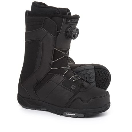 Ride Snowboards Jackson BOA® Coiler Snowboard Boots (For Men and Women) in Black