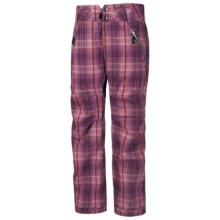 Ride Snowboards Leschi Print Shell Pants - Waterproof (For Women) in Cline Plaid Flannel - Closeouts
