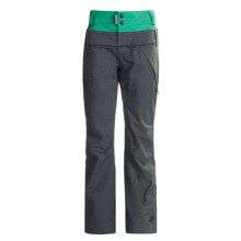 Ride Snowboards Leschi Shell Pants - Waterproof (For Women) in Charcoal Diamond Stripe - Closeouts