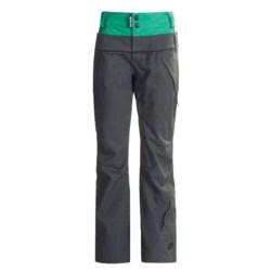 Ride Snowboards Leschi Shell Pants - Waterproof (For Women) in Charcoal Diamond Stripe