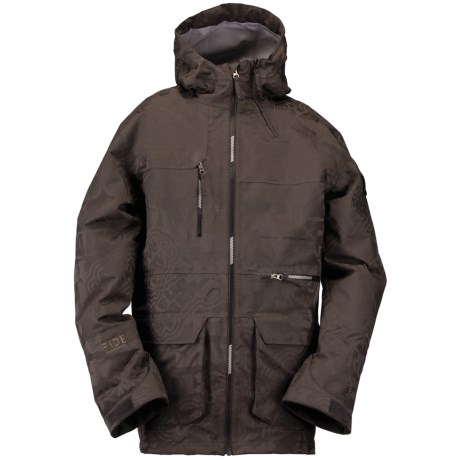 Ride Snowboards Lincoln Shell Snowboard Jacket - Waterproof (For Men) in Gunmetal Jacquard