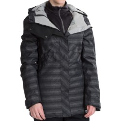 Ride Snowboards Madison Snowboard Jacket - Waterproof, Insulated (For Women) in Black Faded Stripe