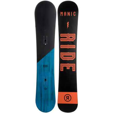 Ride Snowboards Manic Snowboard (For Men and Women) in Night/Ocean W/Night/Orange Logo - Closeouts