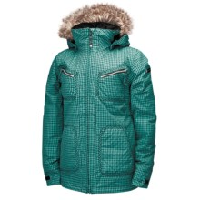 Ride Snowboards Queen Jacket - Insulated (For Women) in Dark Jade Gingham - Closeouts