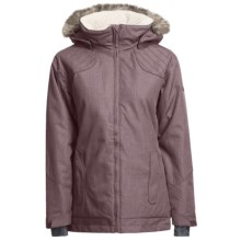 Ride Snowboards Queen Jacket - Insulated, Removable Faux-Fur Trim (For Women) in Vamp Denim - Closeouts
