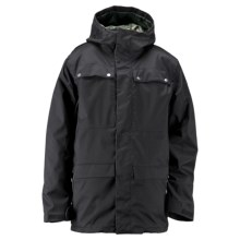 Ride Snowboards Rainier Flannel-Lined Shell Jacket - Waterproof (For Men) in Black Twill - Closeouts
