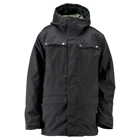 Ride Snowboards Rainier Flannel-Lined Shell Jacket - Waterproof (For Men) in Black Twill