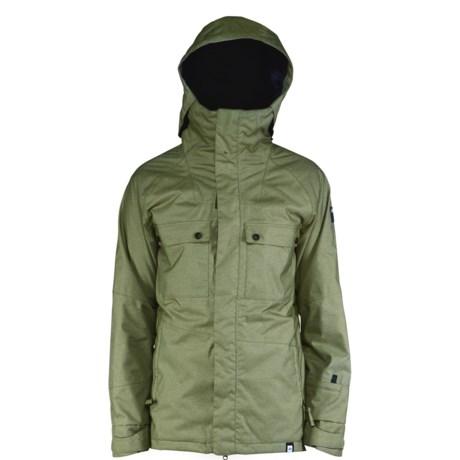 Ride Snowboards Rainier Flannel-Lined Shell Jacket - Waterproof (For Men) in Fatigue Olive Jersey Melange