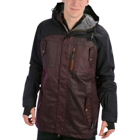 Ride Snowboards Revolution Jacket - Waterproof, Insulated (For Men) in Black Waxed Slub