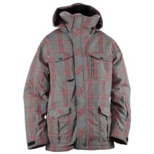 Ride Snowboards Sodo Plaid Jacket - Waterproof, Insulated (For Men) in Faded Plaid Grey - Closeouts