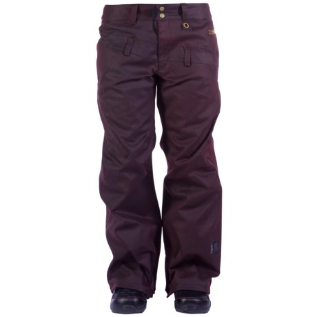 Ride Snowboards Wasted Waxed Snowboard Pants - Waterproof (For Women) in Black Waxed Slub