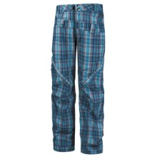 Ride Snowboards Westlake Print Shell Pants- Waterproof (For Men) in Hank Plaid Flannel Blue - Closeouts