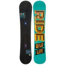 Ride Snowboards Wild Life Snowboard (For Men) in 161 Black/Turquoise Orange Black Logo - Closeouts