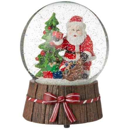 Ridgefield Home Tree and Santa with Presents Musical Snow Globe in Brown - Closeouts