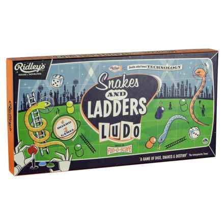 Ridley's House of Novelties Snakes & Ladders and Ludo Games in Multi - Closeouts