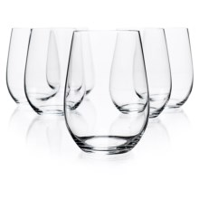 Riedel O Riesling/Zinfandel Wine Tumblers - Crystal, Set of 6 in See Photo - Closeouts