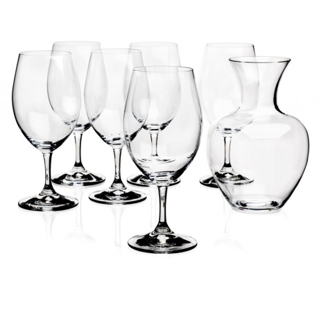 Riedel Ouverture Magnum Wine Glasses with Apple Decanter Set of 6 Glasses