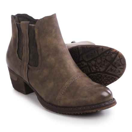 Rieker Bernadette 80 Ankle Boots - Vegan Leather (For Women) in Brown - Closeouts