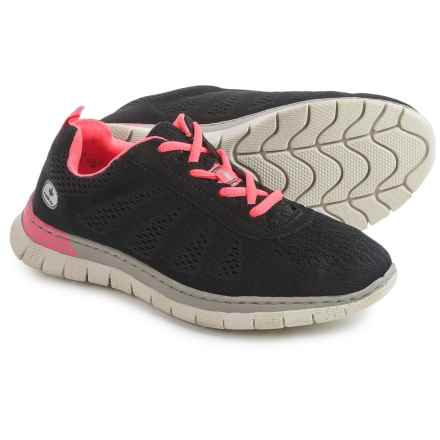 Rieker Claudia 40 Sneakers (For Women) in Black/Black/Pink - Closeouts