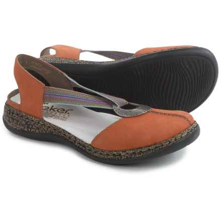 Rieker Daisy 62 Sandals - Leather (For Women) in Orange - Closeouts