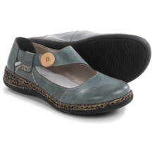 Rieker Daisy 64 Mary Jane Shoes - Leather (For Women) in Blue Grey - Closeouts