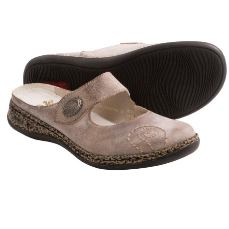 Rieker Daisy Leather Shoes Open Back (For Women)