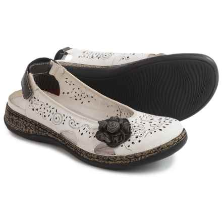 Rieker Daisy Sandals (For Women) in White/Graphite - Closeouts