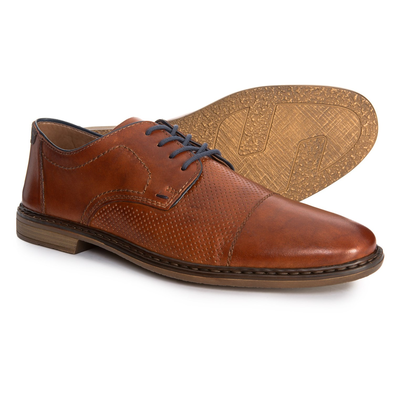 Rieker Diego 28 Oxford Shoes - Leather (For Men) in Amaretto