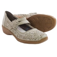 Rieker Doris 72 Mary Jane Shoes - Leather (For Women) in White/Grey - Closeouts
