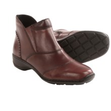 Rieker Doro 54 Ankle Boots - Leather, Side Zip (For Women) in Burgundy - Closeouts