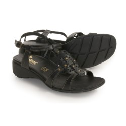 Rieker Elea 62 Sandals - Leather (For Women) in Black