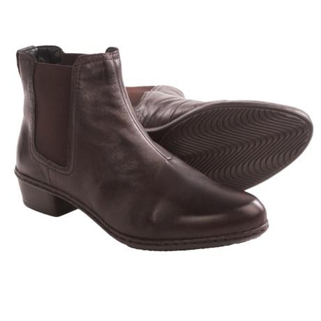 Rieker Fabiola 54 Ankle Boots - Leather (For Women) in Havana