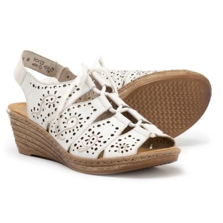 de56c1dde7f57 Rieker Fanni 65 Wedge Sandals (For Women) in Weiss/Bianco