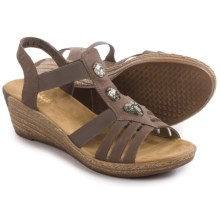Rieker Fanni 69 Wedge Sandals (For Women) in Mineral/Grey - Closeouts