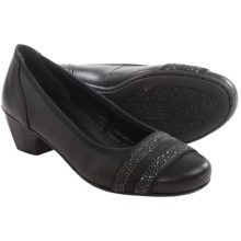 Rieker Mariah 72 Pumps - Leather, Slip-Ons (For Women) in Black - Closeouts